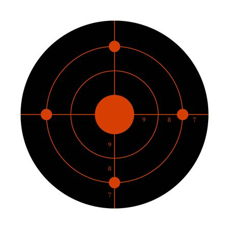 Gun target for the shooting practice on a rifle range Banque d'images - 132545098