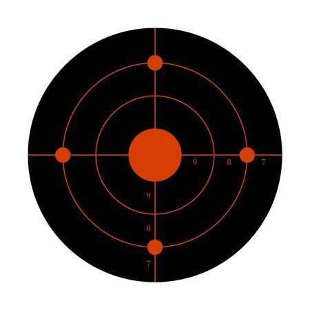 Gun target for the shooting practice on a rifle range Stock Illustratie