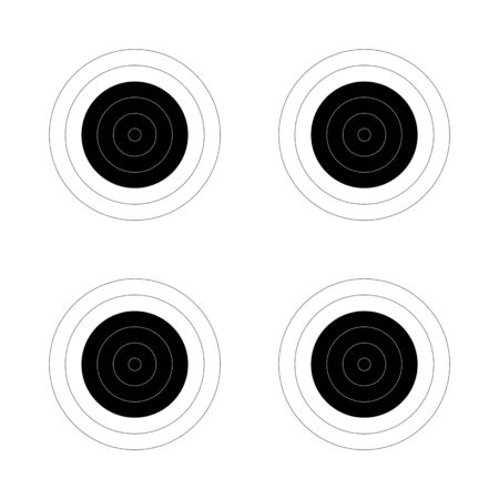 Circular target for the shooting practice and competition rounds on a rifle range Banque d'images - 132872831