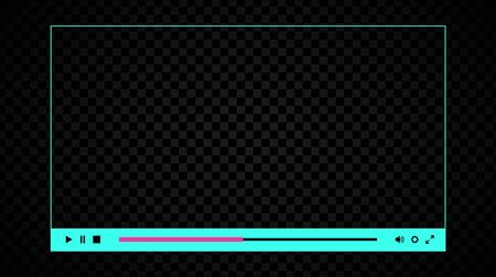 Blank web player interface. Contrast and punchy neon theme Banque d'images - 132872836
