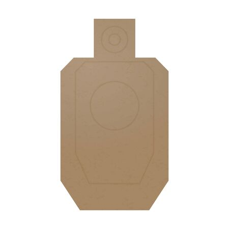 Cardboard human body shaped target for a shooting practice Banque d'images - 132872840