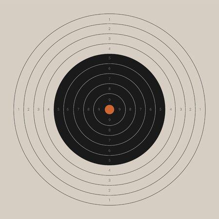 Retro shooting target. Blank bullseye aim template Banque d'images - 132872841