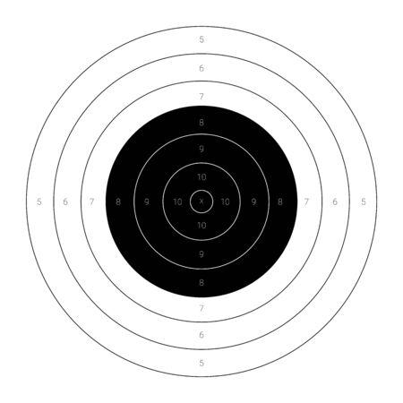 Kreisrunde Zielscheibe für das Schießtraining auf einem Schießstand