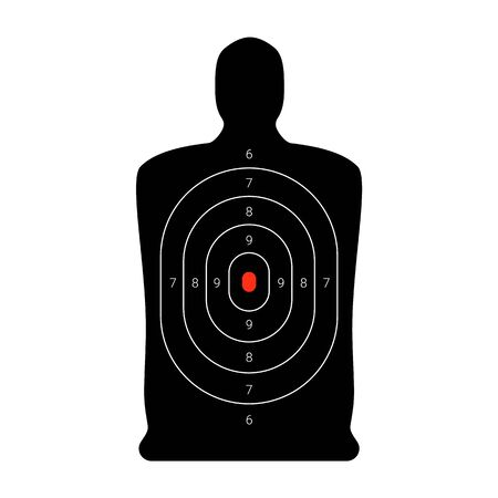 Shooting target in the form of a human body.