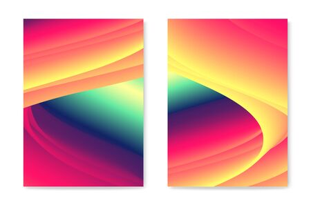 Abstract color flow waves. Modern liquid energy banner.