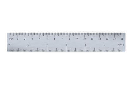 Engineer or architect aluminium drafting ruler with an imperial and a metric units scale