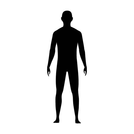 Front view human body silhouette of an adult male.