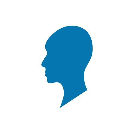 Side view silhouette of a bald gender neutral head.