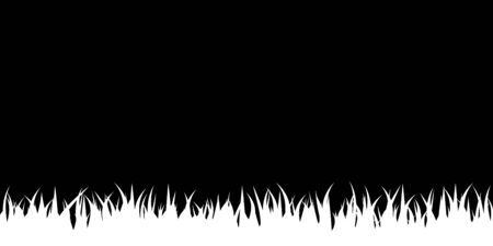 Isolated black stencil with a white grass silhouette.