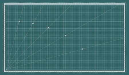 Self healing cutting mat. Cut board with a metric measuring grid.