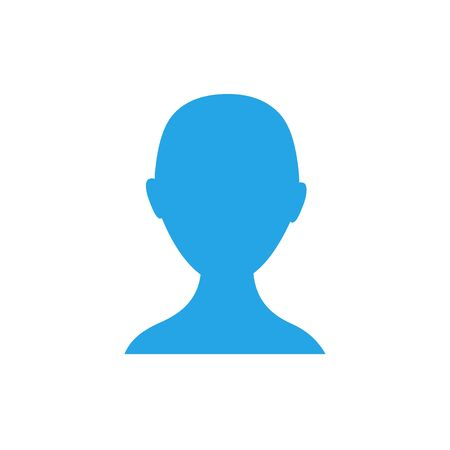 Anonymous gender neutral face avatar. Incognito head silhouette