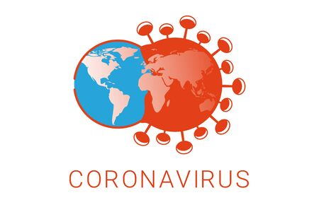 Coronavirus outbreak illustration. The Earth infected by a virus.