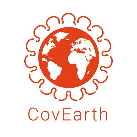 Stop coronavirus outbreak. Earth infected by a common SARS-CoV-2 virus