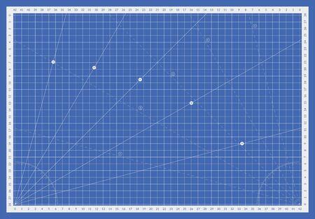 Self healing cutting mat. Cut board for blueprints and measuring
