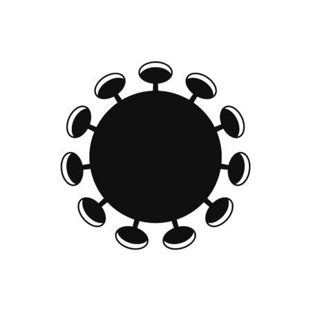 Isolated coronavirus icon. Contemporary sign of the SARS-CoV-2 virus