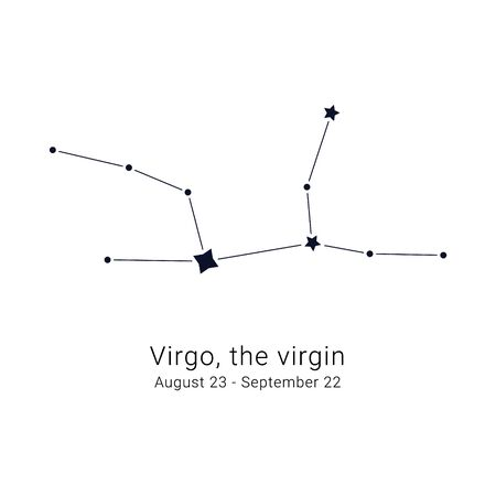 Virgo, the virgin. Constellation and the date of birth range.