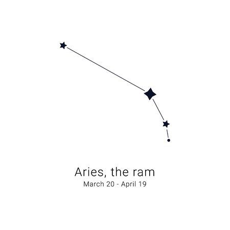 Aries, the ram. Constellation and the date of birth range.