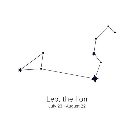 Leo, the lion. Constellation and the date of birth range.