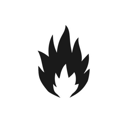 Flammable substance icon. Simple symbol of an open fire danger