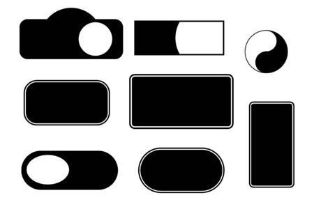 Set of blank labels, tags and stickers