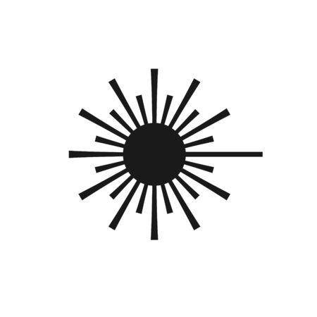 Simple isolated icon of a laser danger.