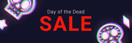 Day of the Dead Sale banner. Dia de Muertos Clearance Poster Иллюстрация