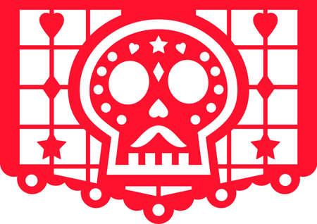 Day of the dead banner. Dia de Muertos bunting Иллюстрация