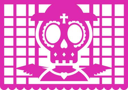 Day of the dead banner. Dia de Muertos bunting 矢量图像