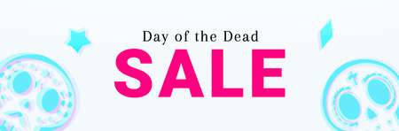 Day of the Dead Sale banner. Dia de Muertos Clearance Poster 矢量图像