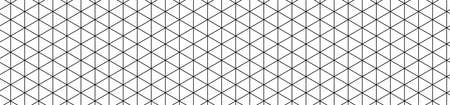 Paper with a seamless isometric pattern. Web banner with a geometric grid