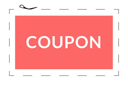 Coupon dotted cut line. Snip frame with a cutline border. 矢量图像