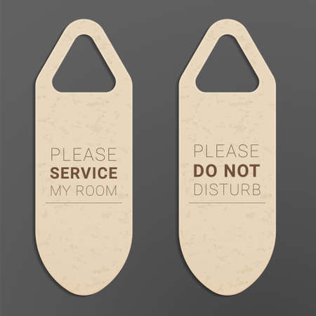 Do not disturb and Please service my room door hangers.