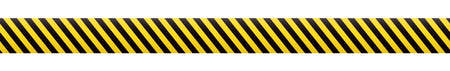 Barrier tape. Construction border. Black and yellow restriction line. Do not cross boundary tape