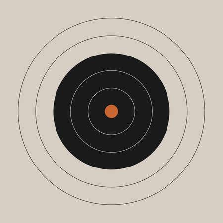 Vintage shooting range gun target with a marked bullseye