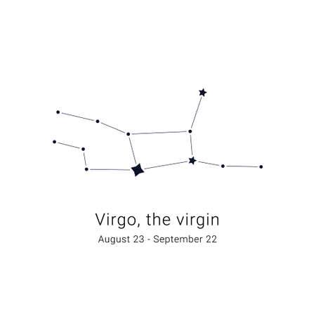 Virgo, the virgin. Constellation and the date of birth range.