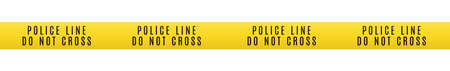 Police line do not cross. Seamless barrier tape. Crime scene border. Accident restriction line 向量圖像
