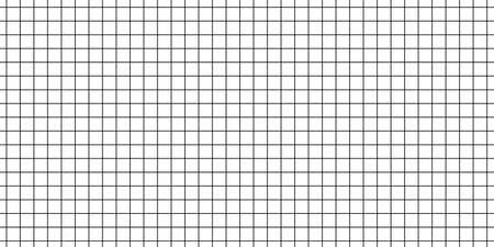 Square geometric grid pattern. Millimetric plotter paper Vectores
