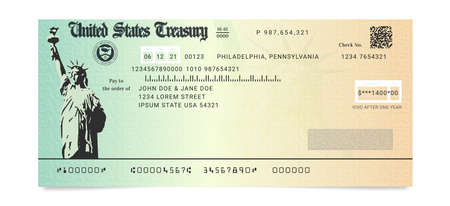 Sample of the fake US Stimulus Check