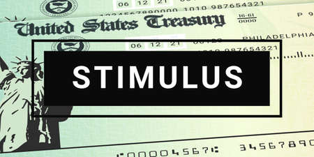 United States Stimulus Checks News. Relief Program Update 版權商用圖片