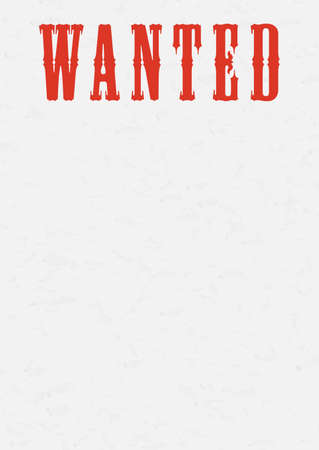 Vintage western reward placard. Wanted dead or alive poster template.