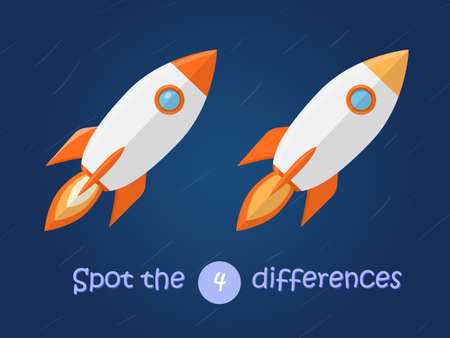 Find the difference of flying rocket in the space
