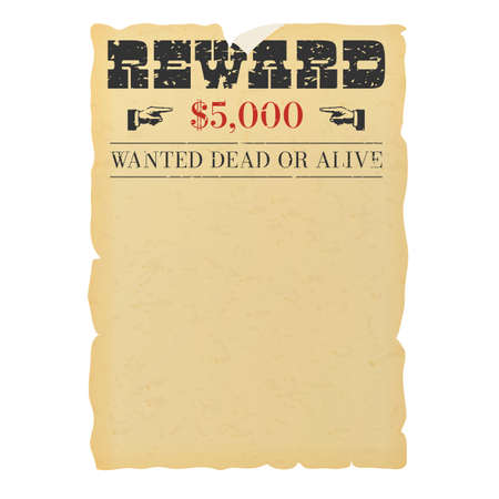 Wanted dead or alive placard blank template
