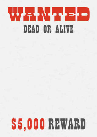 Western wanted dead or alive poster background Ilustração