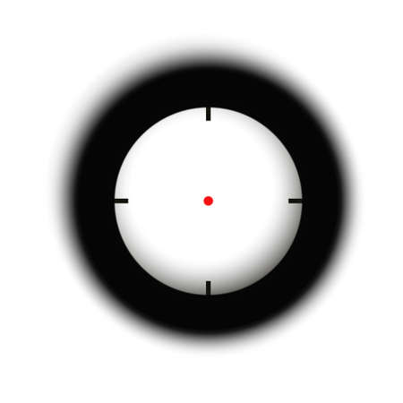 Rifle reticle. Sniper scope. Crosshairs of a gun optics Vector Illustration