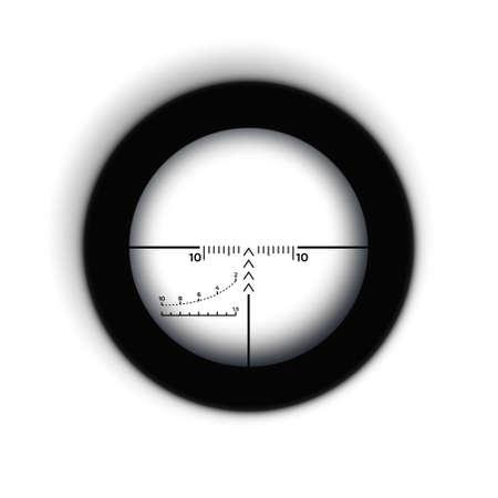 Rifle reticle. Sniper scope. Crosshairs of a gun optics