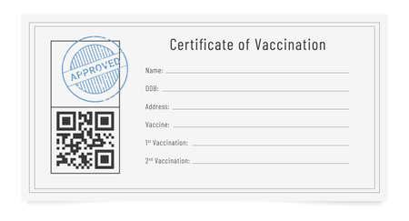 Vaccine passport. Flu shots record card. International certificate of vaccination
