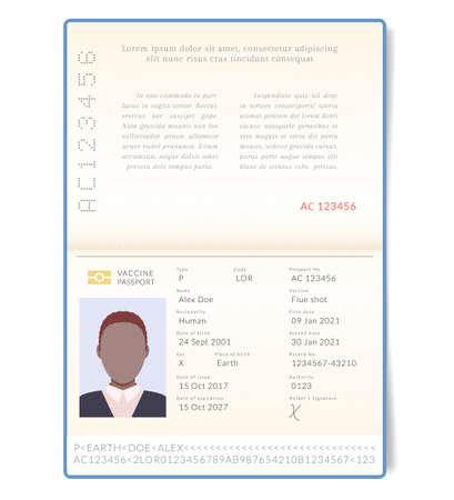 Biometric vaccine passport. Contemporary passports will be provided with an information on vaccinations against influenza, covid and other diseases