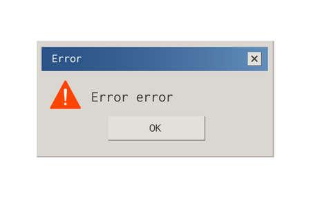 Vintage style error message pop up window.