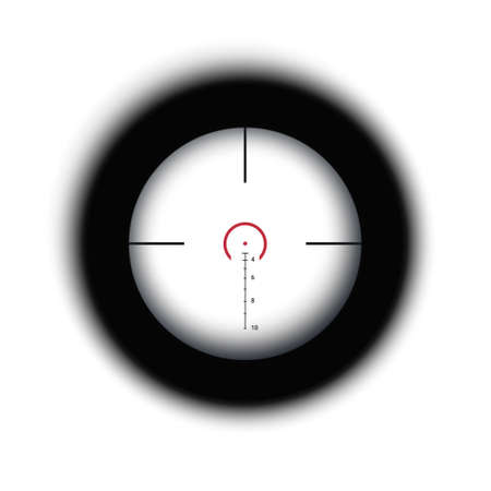 Crosshair of sniper scope viewfinder. Aiming cross of a gun optics.