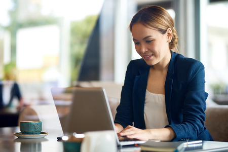 Attractive Manager Focused on Work Stock Photo - 84779317